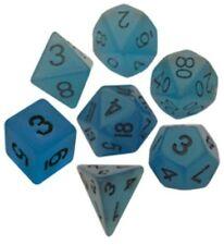 Metallic Dice Games 7 Critical Reinforcers Dice Set Blue Glow LIC302