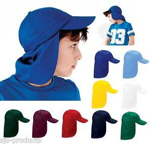 Kids Boys Girls Sun Safe LEGIONNAIRE HAT UV Protective Summer Cap with Neck Flap