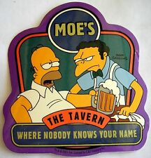 Simpsons Homer & Moe sticker Licensed Where nobody knows.
