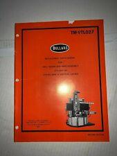Bullard - Replacement Parts Manual - Ball Screw Side Head Assembly (1979) Tm-Vtl