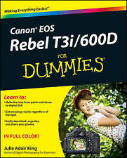 Canon EOS Rebel T3i/600D For Dummies (Paperback)