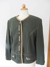 HAGRO Country     Trachtenjacke Janker Jacke grün / gelb Größe 42 XL  (D2)