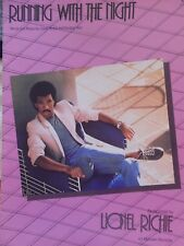 1983 LIONEL RICHIE RUNNING WITH THE NIGHT CYNTHIA WEIL SONG BOOK SHEET MUSIC