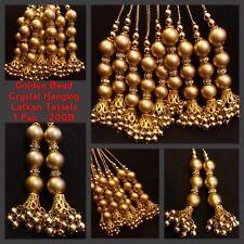 Latkan 1 Pair Gold Crystal Latkans Suit Sari Blouse Duppata SewOn Tassel Hanging
