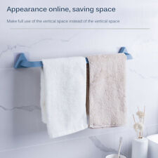 Self Adhesive Bathroom Towel Bar Wall Mount Holder Rack Non Slip Storage Kitchen