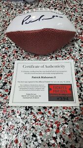 AUTOGRAPHED PATRICK MAHOMES KANSAS CITY CHIEFS TEAM MINI FOOTBALL WITH COA!