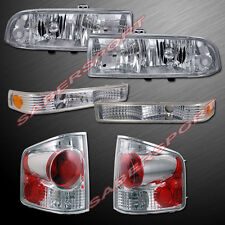1998-2004 CHEVY S-10 PICKUP EURO CLEAR HEADLIGHTS + BUMPER + ALTEZZA TAIL LIGHTS