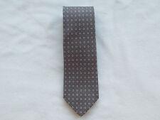 $190 NWT Authentic SALVATORE FERRAGAMO Silk Taupe Horseshoe Tie