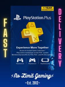 ⚡DIGITAL CODE⚡ PS Network PlayStation Plus 12 Month Membership PS3 PS4 PS5