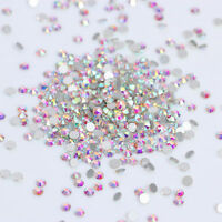 1 Bag Rhinestone Colorful Flat Bottom 3D Nail Decoration SS3 Manicure DIY Tips