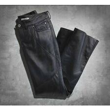 Harley Davidson Womens Highland Contoured Boot Cut Black Leather Pants 2 6 8 10