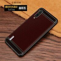 For XiaoMi Mi A3 Shockproof Slim Cover Matte Leather Pattern Soft TPU Back Case