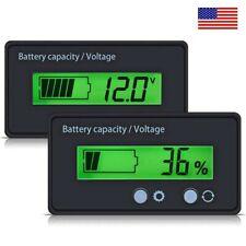 12V Indicator Battery Capacity Voltage Tester Display Lead-acid Monitor Kits US