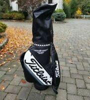 CLEAN Vtg Titleist Vokey Design Leather Black Golf Club Bag Carry Cart Bag Cover