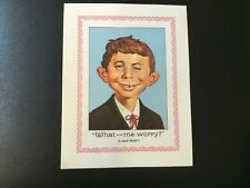 "Vintage ""What.. Me Worry?"" Alfred E Neuman 7 x 9 Mini Poster - MAD Magazine"