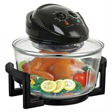 NEW! 12L Litre Black Portable Halogen Convection Oven Cooker 1400W