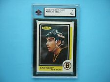 1986/87 O-PEE-CHEE NHL HOCKEY CARD #250 CAM NEELY KSA 7 NM SHARP+ 86/87 OPC