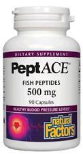 Natural Factors - PeptACE Fish Peptides 500 mg - 90 Capsules