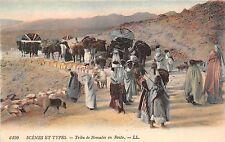 B4759 tribu de nomades types scene africa   front/back scan