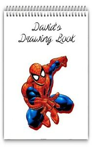 A4 PERSONALISED DRAWING PAD/A4 SKETCH BOOK/ DOODLE PAD/A4 NOTEBOOKS SPIDERMAN