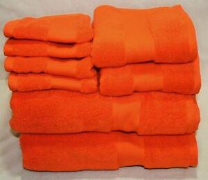 Ralph Lauren Wescott Summer Ora Eight Piece Bathroom Towel 100% Cotton Set New
