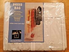 "New See-Thru Hanging Storage Stow-A-Way Dress Bag》14.5"" W x 54"" H x 20"" D"