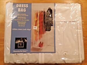 "New See-Thru Hanging Storage Stow-A-Way Dress Bag》14.5"" W x 54"" H x 20"" D"