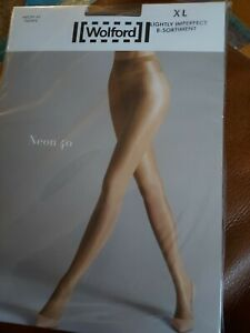 Wolford Neon 40 Tights XL, deep taupe, Slight imperfect