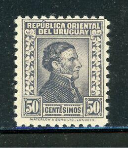URUGUAY MH Selections: Scott #371 50c Gray Artigas WATERLOW CV$2+