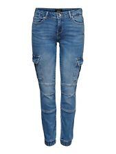 Only Damen Cargo Hose Denim - Missouri Ankel Jeans Pant blau S M L XL 30L 32L