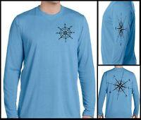Microfiber Long Sleeve UPF 50 t shirt sun protection Sailing Boating Compass