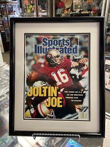 Joe Montana Autograph Sports Illustrated October 2, 1989 Upperdeck Certificate