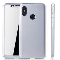 Xiaomi mi 8 Custodia Cover per Cellulare Protettiva Bumper Pellicola 9H Argento