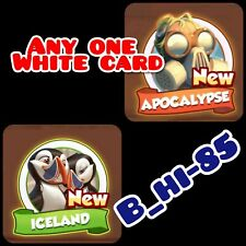 Coin Master New Sets Cards Apocalypse Set Iceland Set Any White Card (1 card)