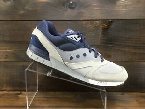 Saucony Shadow Master Mens Grey Blue Running Casual Shoes Mens Size 13 Excellent