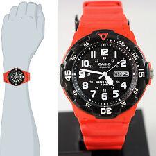 Casio MRW-200HC-4B Red Analog Sport 100M WR Watch Day and Date Neo Display New