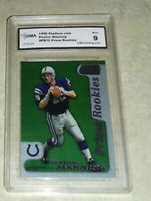 New listing 1998 Stadium Club Prime Rookies Peyton Manning GMA 9 #PR10 Colts RC Broncos
