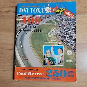 NASCAR 1968 Daytona Firecracker 400 Race Program Cale Yarborough