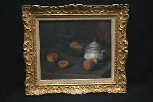 Tableau composition aux fruits -Début XXe s -Qualité H Savigny ? Malfroy?