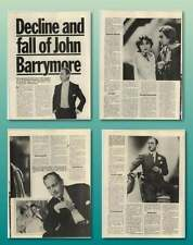 The Decline And Fall Of John Barrymore Old Article
