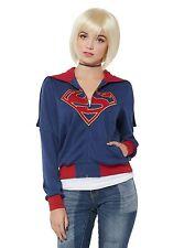 DC Comics Supergirl Girls Hooded Jacket SIZE JUNIORS Extra LArge NWT