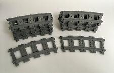 LEGO® Eisenbahn RC Schienen 16x Kurve / Kreis 7898 7938 7939 3677 16 Stück Gleis