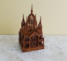 Dollhouse Miniature Birdcage JBM Large Gothic Victorian 1:12 Walnut Finish