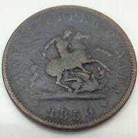 1850 Bank Upper Canada Half 1/2 Penny Cent Canada Circulated Token D581