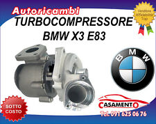 TURBOCOMPRESSORE BMW X3 E83 2.0D 110KW DAL 1/2001 IN POI