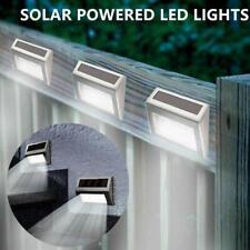 LED Stair Light Solar Powered Outdoor Path Garden Step Lights Fence Lamp Decor