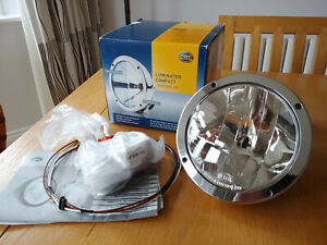 Hella Luminator Compact Spotlight Lamp in Chrome / Chromium