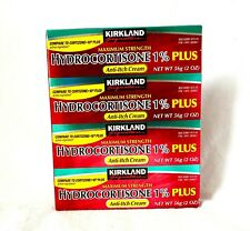 Kirkland Hydrocortisone 1% PLUS Anti-Itch Cream 4 Tubes, 2 Ounces Each EXP 02/22