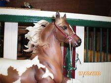Jaapi Simple BURGUNDY Arabian Show Halter -fits Breyer/Stone model horses