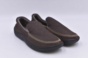 Men's Isotoner Preston Heather Knit Moccasin Slippers, Brown, 8/9M